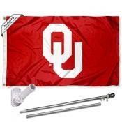 OU Sooners Flag and Bracket Flagpole Kit