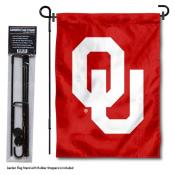 OU Sooners Garden Flag and Holder