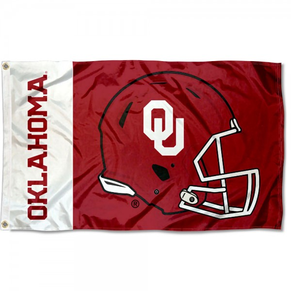OU Sooners Helmet Flag