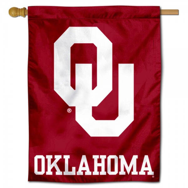 OU Sooners Polyester House Flag