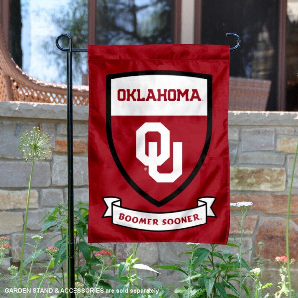 OU Sooners Shield Garden Flag