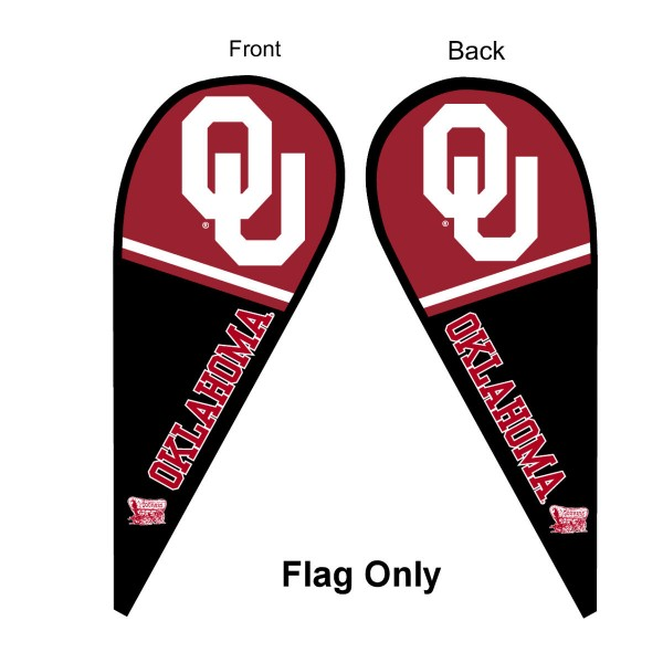 OU Sooners Teardrop Flag