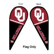 OU Sooners Teardrop Flag