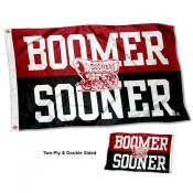 OU Sooners Two Sided Boomer Sooner 3x5 Foot Flag