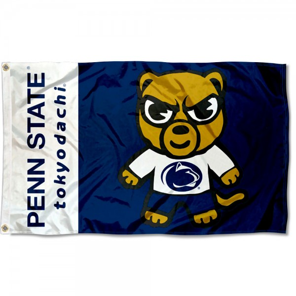 Penn State Nittany Lions Tokyodachi Cartoon Mascot Flag