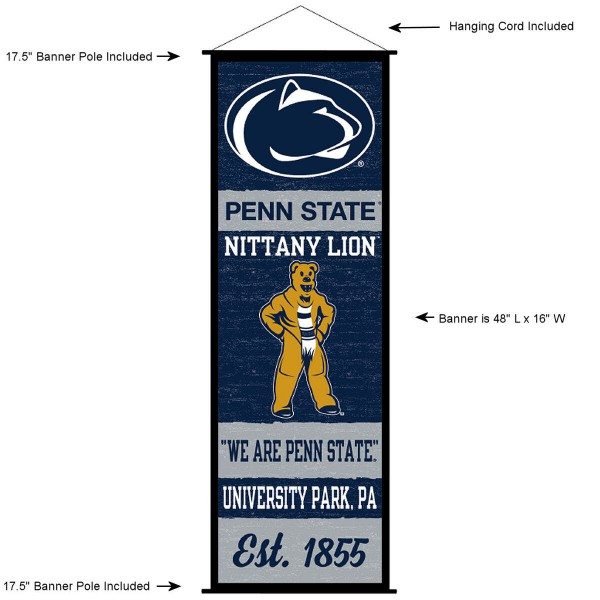 Penn State Nittany Lions Wall Banner and Door Scroll