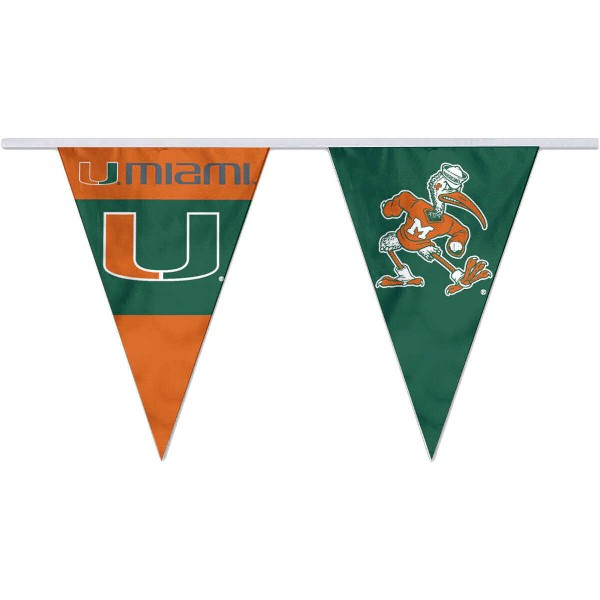 Pennant Flags for Miami Canes