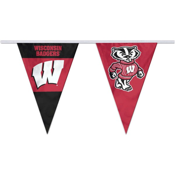 Pennant Flags for UW Badgers