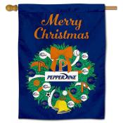 Pepperdine Waves Christmas Holiday House Flag