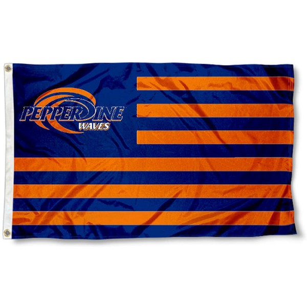 Pepperdine Waves Nation Flag
