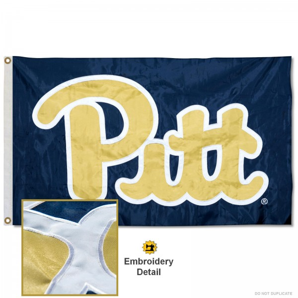 Pitt Panthers Appliqued Nylon Flag