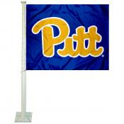 Pitt Panthers Royal Blue Script Car Flag