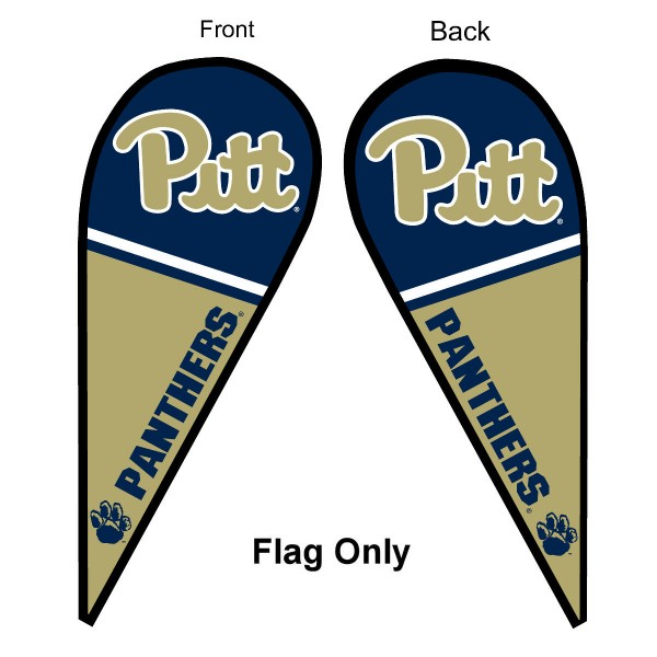 Pitt Panthers Teardrop Flag
