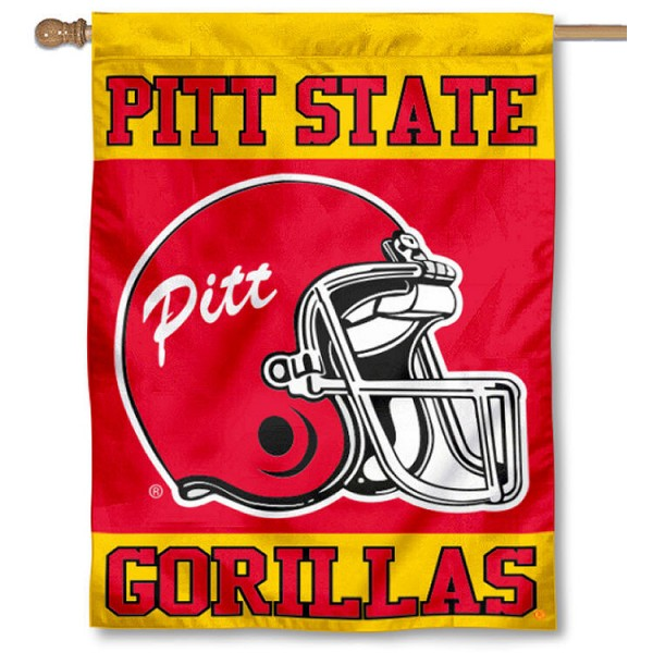 Pitt State Football Helmet House Flag