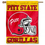 Pitt State Football Helmet House Flag