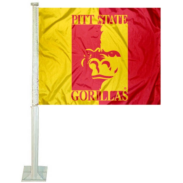 Pitt State Gorillas Car Flag