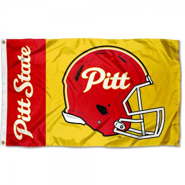 Pitt State Gorillas Helmet Flag