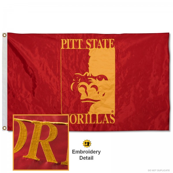Pittsburg State Gorillas Appliqued Nylon Flag
