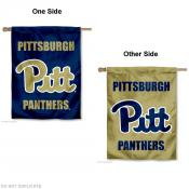 Pittsburgh Panthers Script Logo House Flag