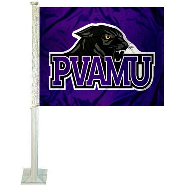 Prairie View A&M Panthers Car Flag