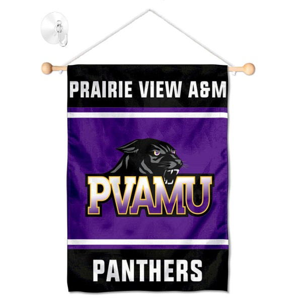 Prairie View A&M Panthers Window Hanging Banner with Suction Cup