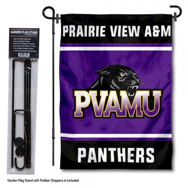 Prairie View A&M University Garden Flag and Yard Pole Holder Set