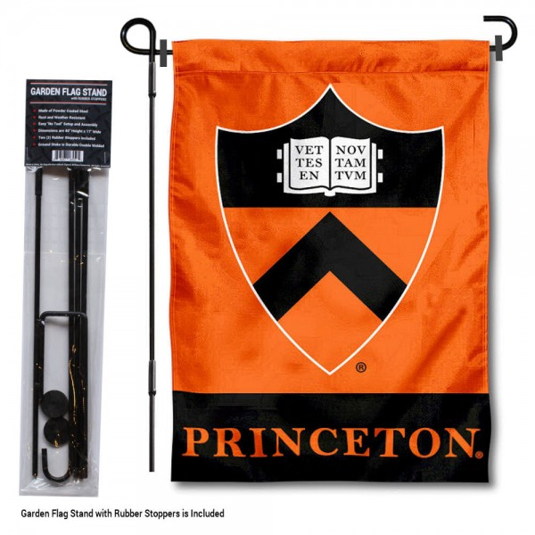 Princeton Tigers Garden Flag and Holder