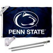 PSU Nittany Lions Blue Flag and Bracket Flagpole Kit