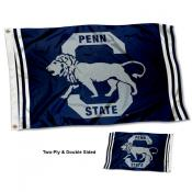 PSU Nittany Lions Vintage Two Sided 3 by 5 Foot Flag