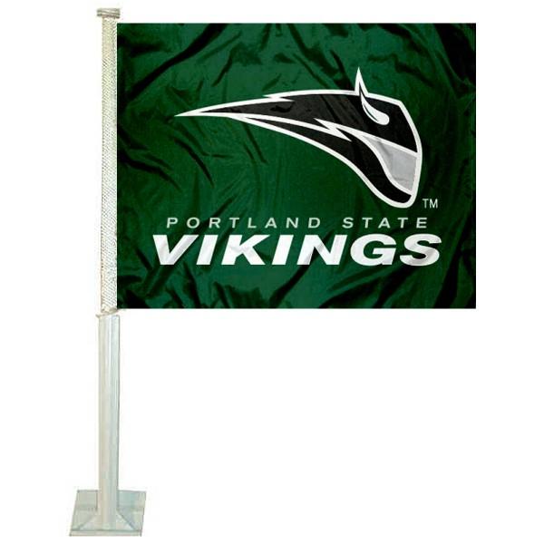 PSU Vikings Car Flag