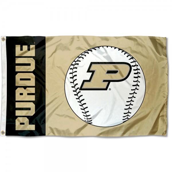 Purdue Boilermakers Baseball Flag
