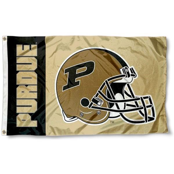 Purdue Boilermakers Football Helmet Flag