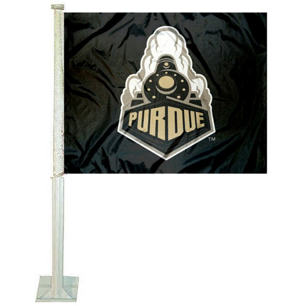 Purdue Boilermakers New Boiler Logo Car Flag