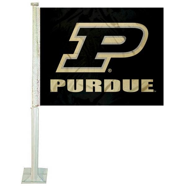 """Purdue Boilermakers """"P"""" Logo Car Flag"""