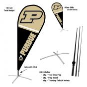 Purdue Boilermakers Teardrop Flag and Stand Kit