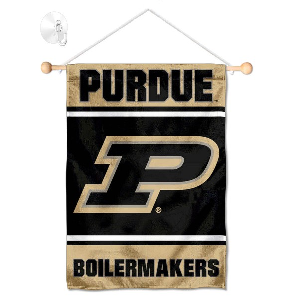 Purdue Boilermakers Window Hanging Banner with Suction Cup