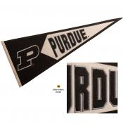 Purdue Embroidered Wool Pennant