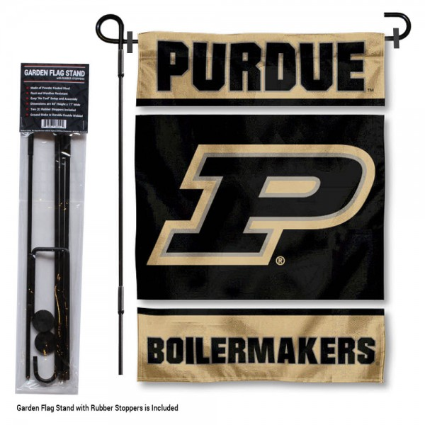 Purdue Garden Flag and Holder