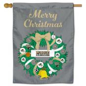 Purdue Northwest Pride Christmas Holiday House Flag