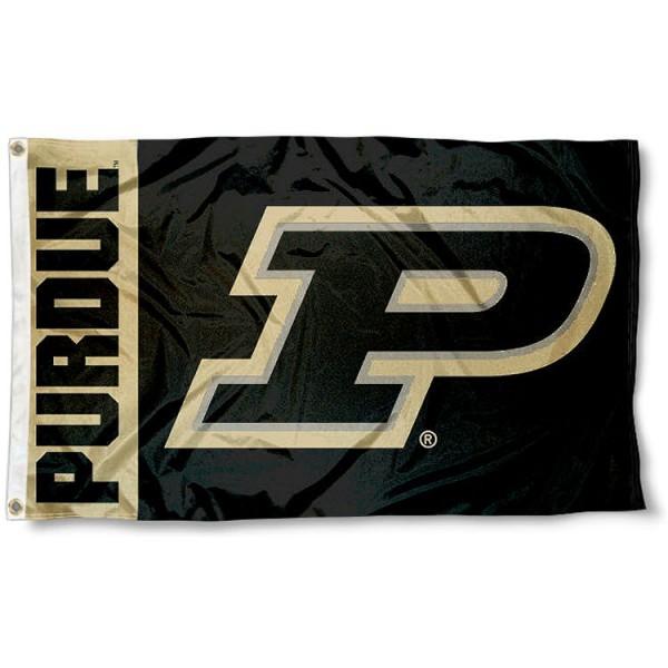 Purdue Slanted P Flag