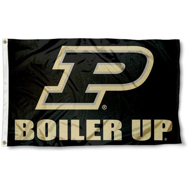 Purdue University Boiler Up Logo Flag