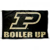 Purdue University Boiler Up Logo Flag