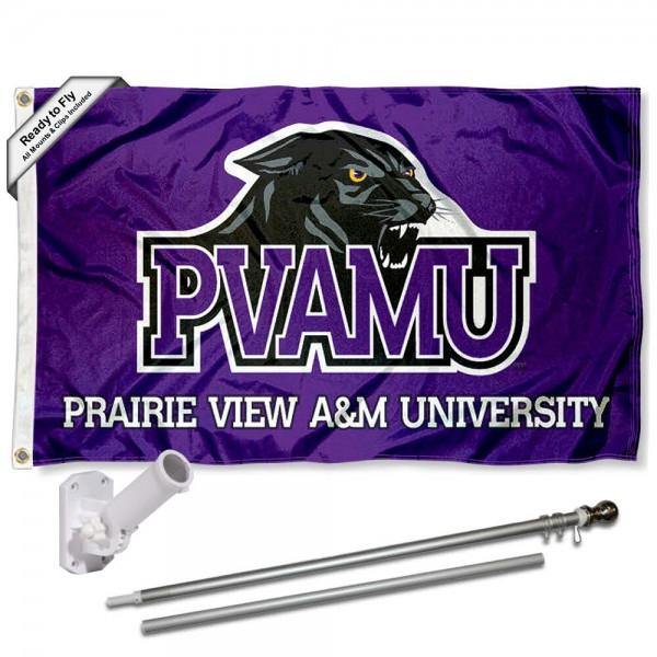 PVAMU Panthers Flag and Bracket Flagpole Kit