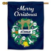 Queens University Royals Christmas Holiday House Flag