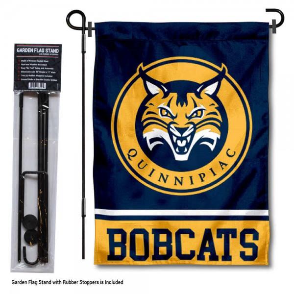 Quinnipiac University Garden Flag and Yard Pole Holder Set