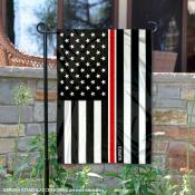 Red Thin Line Nurses Yard Garden Banner