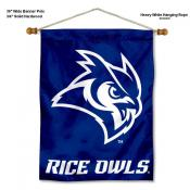 Rice Owls Banner with Pole