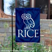Rice Owls Crest Badge Owl Logo Garden Flag