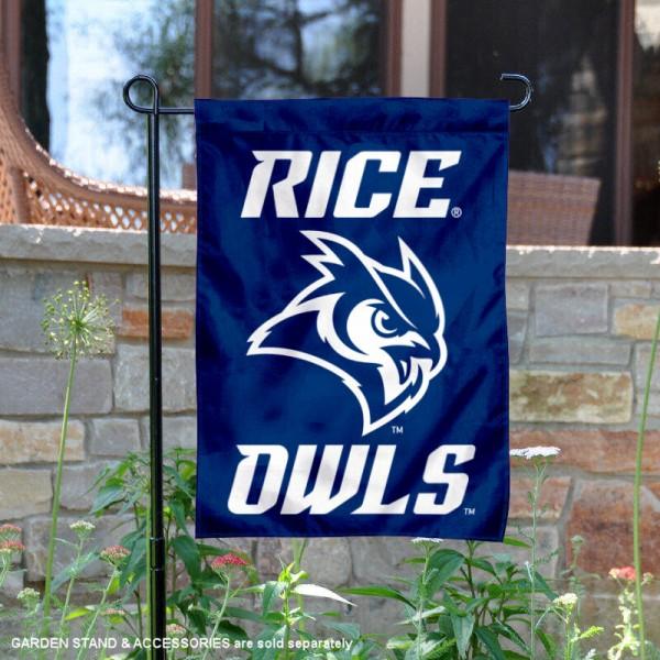 Rice Owls Owl Logo Garden Flag