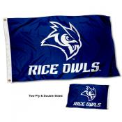 Rice Owls Two Sided 3x5 Foot Flag
